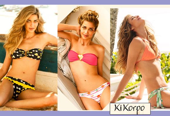 Três modelos de biquínis da coleção da marca KiKorpo