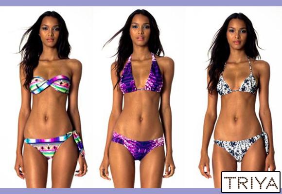 Três modelos de biquínis da coleção da marca Triya