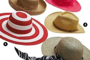 Chapéus para diferentes tipos de rostos.